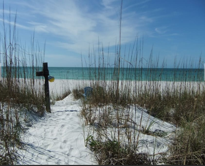 Private path to the powdery sand beaches of Pass-a-Grille Beach, St. Petersburg Beach Florida
