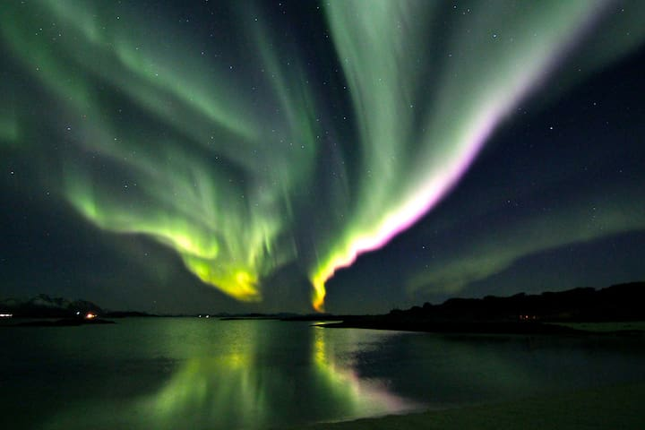 Fantastic spot for northern lights  from the house