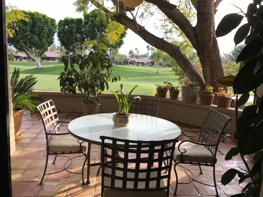 Patio Over looks the Golf Course