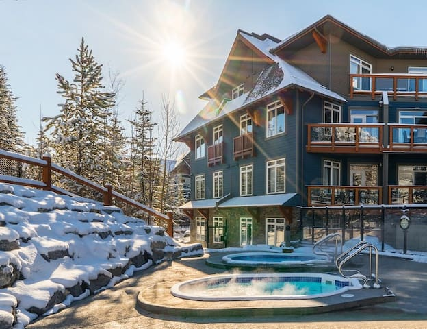 Enjoy a dip in the year-round heated pool or one of two hot tubs!