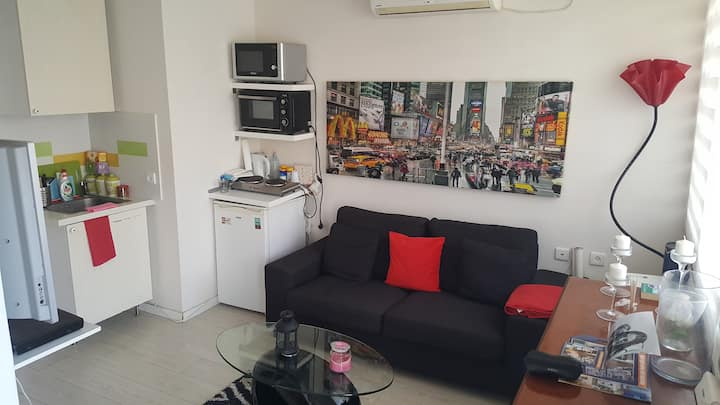 Lovely rooftop 2 room apartment quiet central