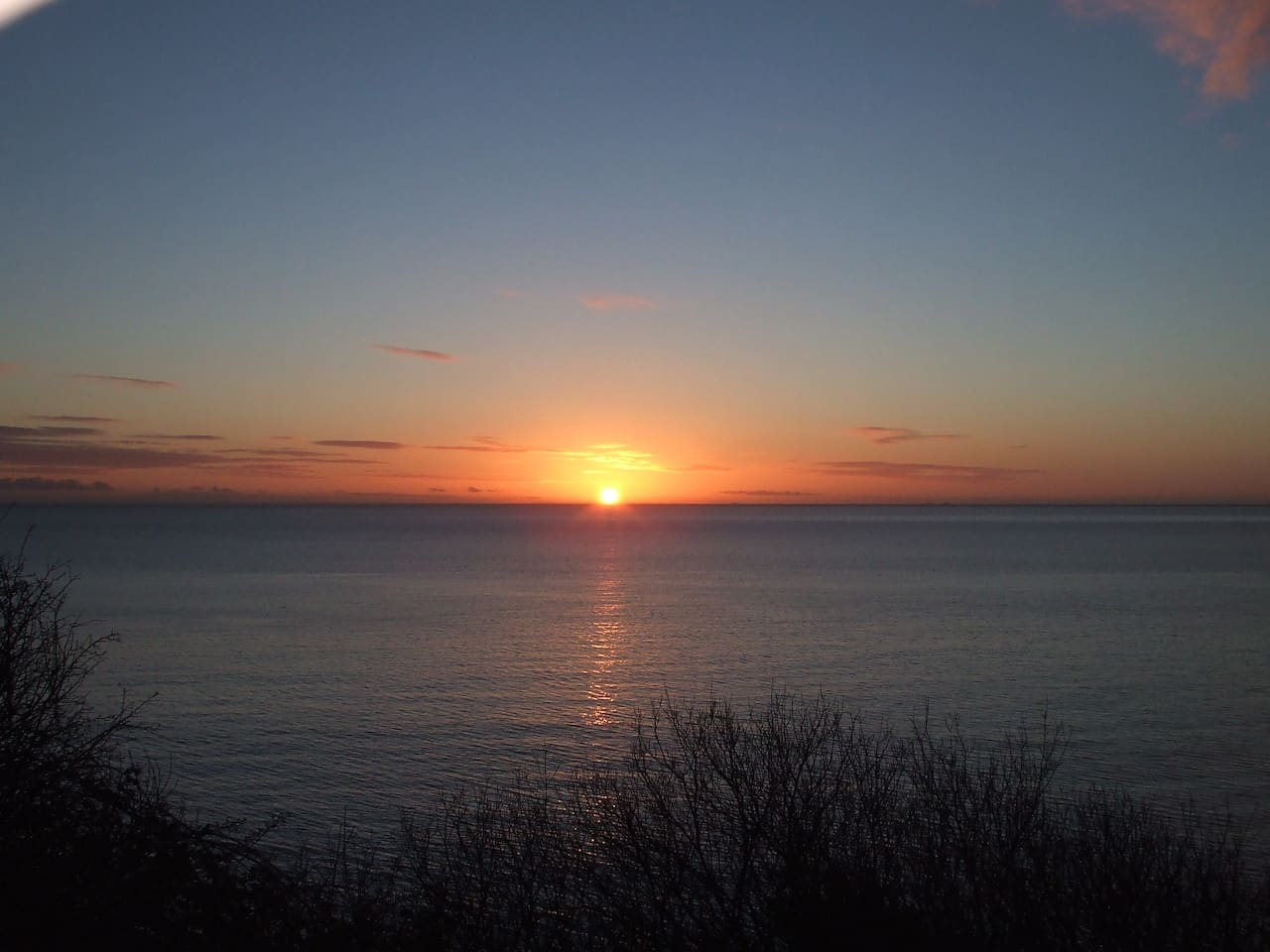 Sunrise over Carnlough Bay
