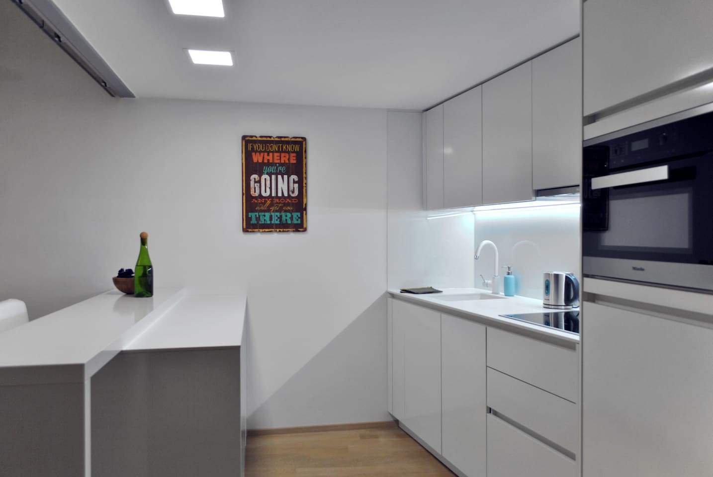Apartment is equipped with high quality facilities, i.e., all Miele accessories in the kitchen.
