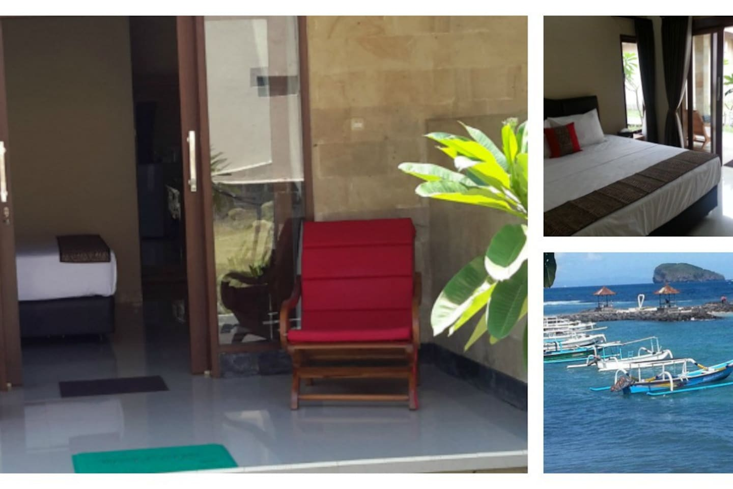 Magic View Bungalows situated on the Ocean side of Candidasa.  Beautiful modern clean rooms with Magical Views.  Garden View and Ocean View rooms available.