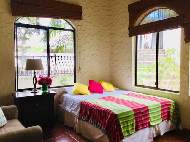 Bedroom no.2 with closet air condition and en suite bathroom
