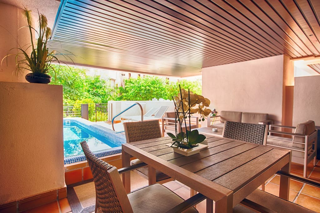 Terrace with private swimpool