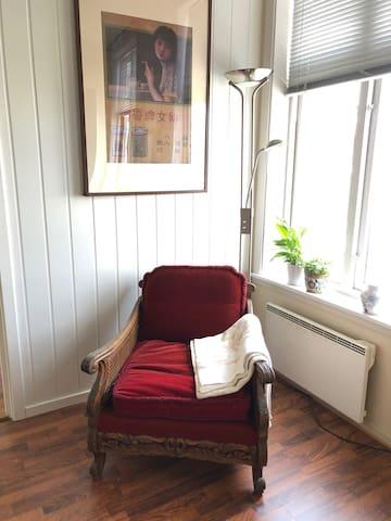 Koselig 3-roms leilighet sentralt i Hønefoss