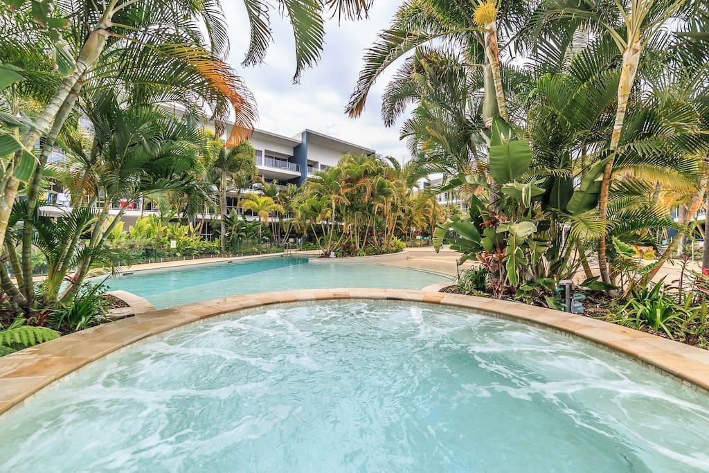 Gorgeous outdoor Lagoon pool