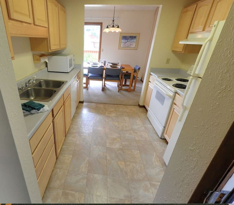 Kitchen to Dining and Deck