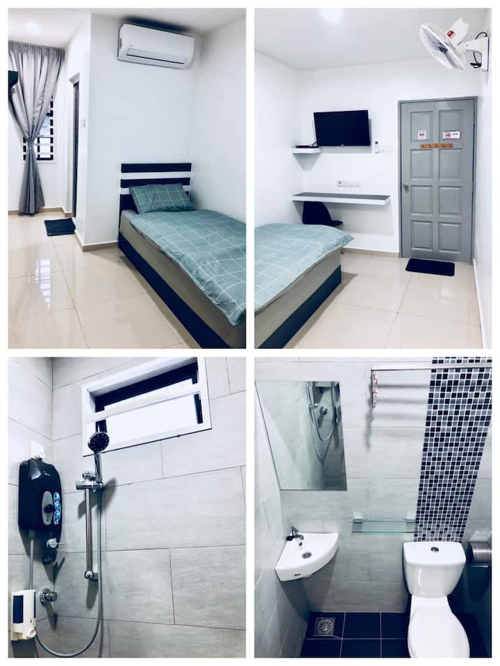 New Modern Single Room AA W-INN Kuantan Homestay