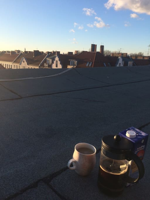 coffee on the roof.