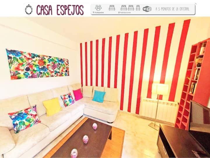 Casa Espejos close Cathedral, 2 rooms, 7 pax, wifi