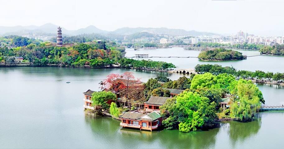 位于西湖 靠近商圈 三室一厨两卫+景观阳台 的超舒适洋房 - Huizhou - Apartment