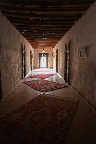 Traditional style kasbah on the foot of the Dunes