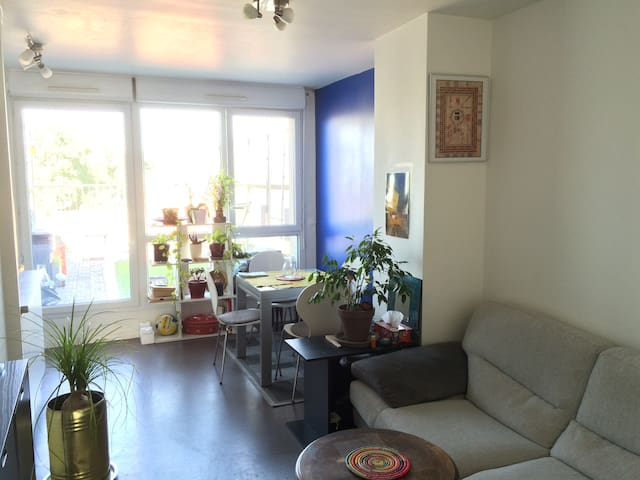 Lovely double bedroom near Paris - Romainville - Apto. en complejo residencial