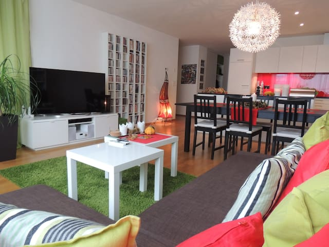 Cosy room with a big balcony (incl. breakfast) - Buchrain - Appartement