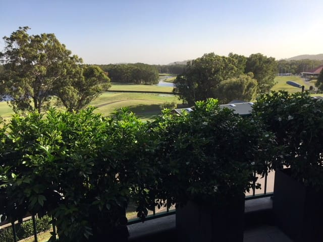 Outlook from balcony over Horizons Golf Course