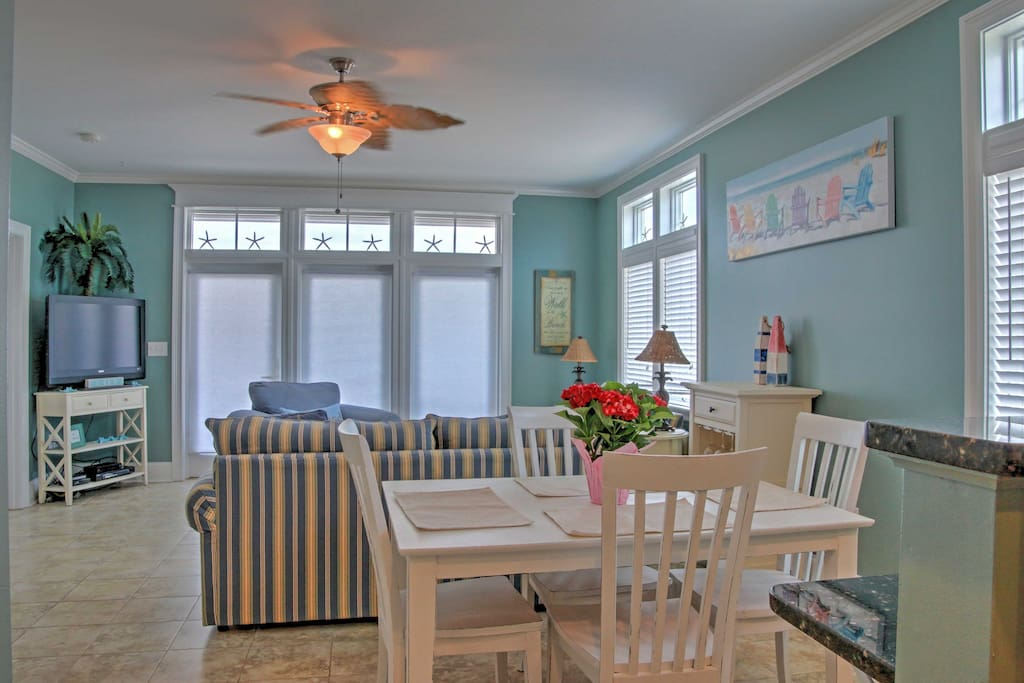 Beach decor throughout the condo will constantly remind you that you're on vacation!
