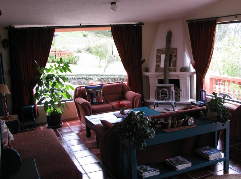 Our two Bedroom Guesthouse has a living room, dining area and plenty of open space.  The free Internet connection is excellent!  Huge picture windows offer spectacular views.  Up to 4 persons can stay in a two bedroom Guesthouse.