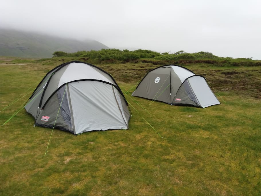 We have a few tents in Stafafell campsite.