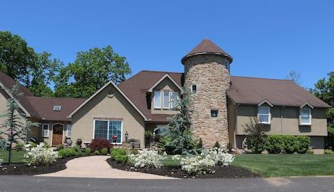 Tudor Home on the Hill.