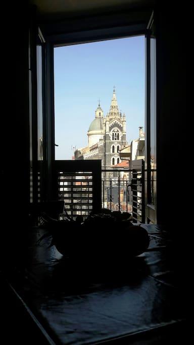 Soggiorno con vista sulla Basilica di Santa Maria Assunta