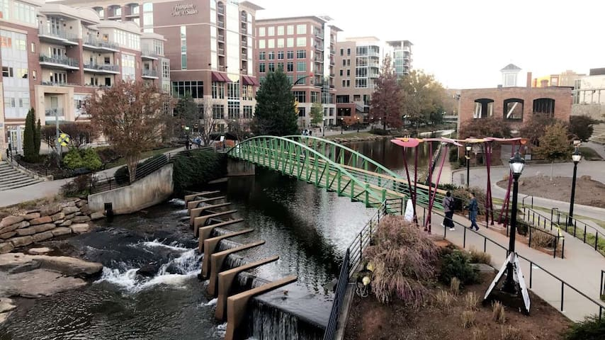 Downtown Greenville Falls Park & Zoo with parking
