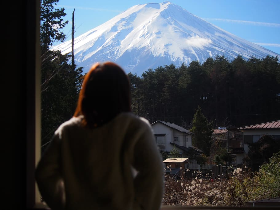 You can see amazing Mt.Fuji from my house!!!