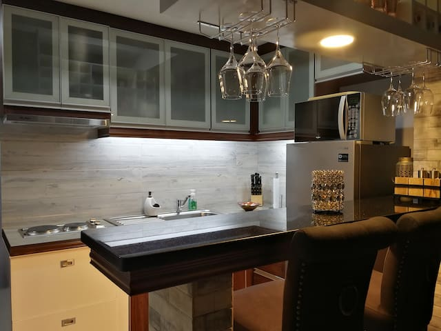 Kitchen bar table for two