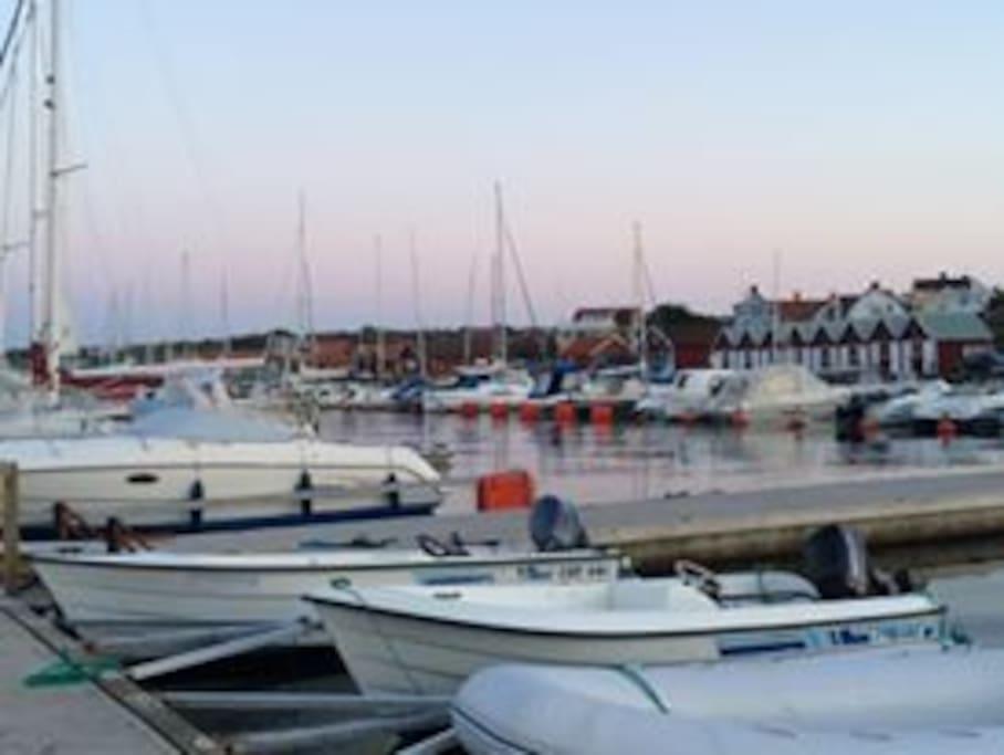 Local village, sailing boats