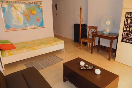 Small studio, perfect located in Heraklion center - Iraklio - Apartemen