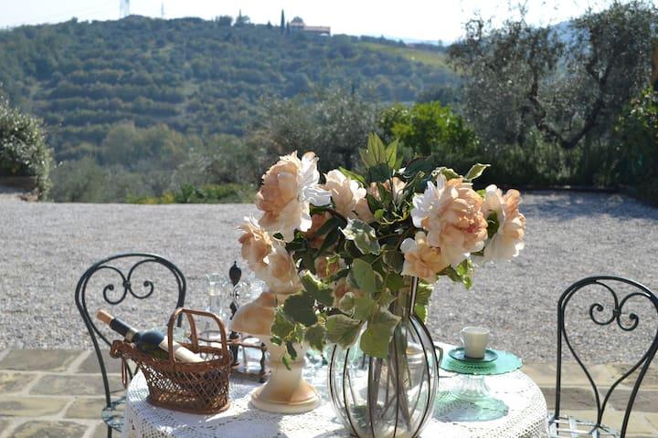 Colazione e Pranzo con Vista sulle meravigliose colline toscane.