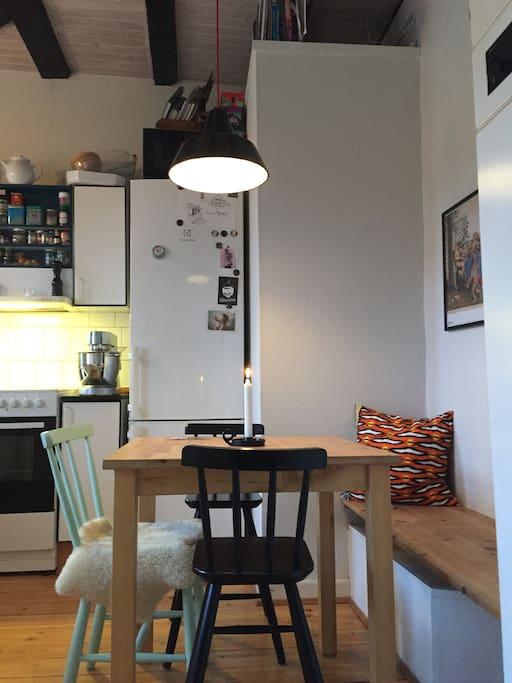 Spisehjørnet i køkkenet