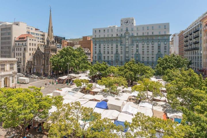 ★Green market square Gem | Aircon | Balcony
