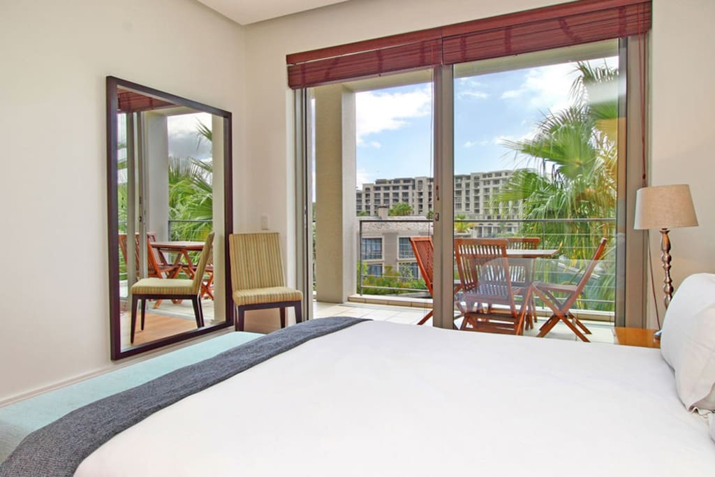 Master Bedroom/Balcony with views of Marina water