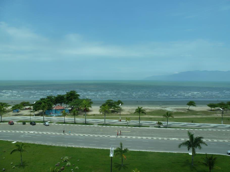Vista da praia Indaiá