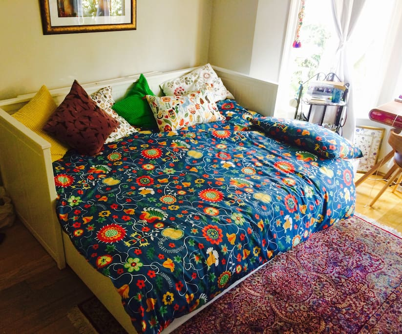 Your large super comfortable double bed