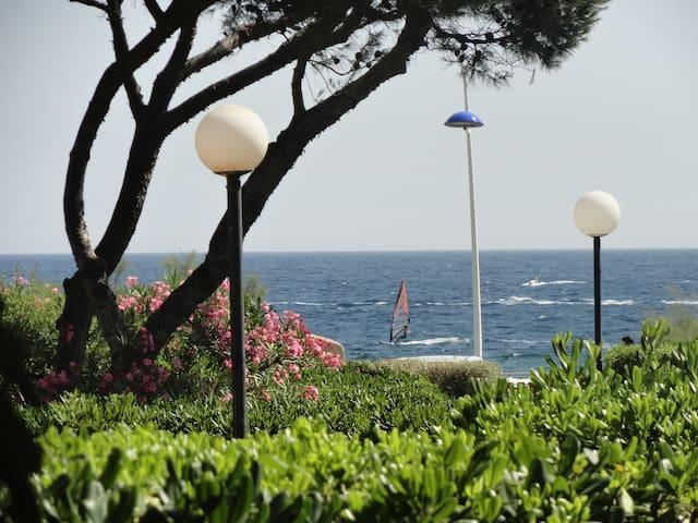 Appartement front de mer, jardin privatif,terrasse