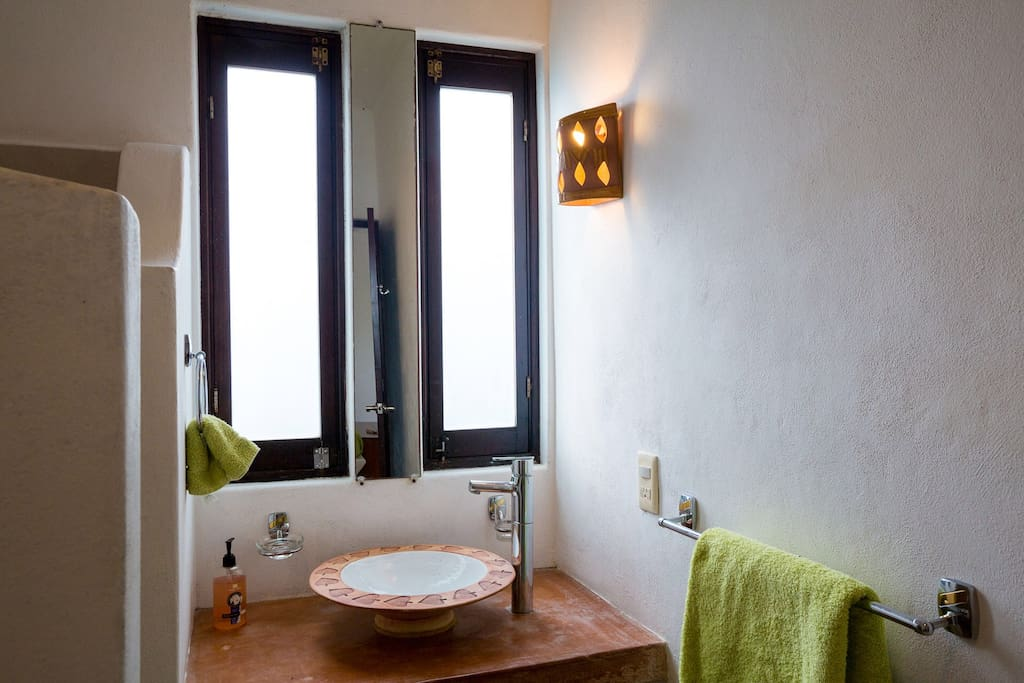 The Lime's main bathroom at Cozumel Suites&Apartments Rentals