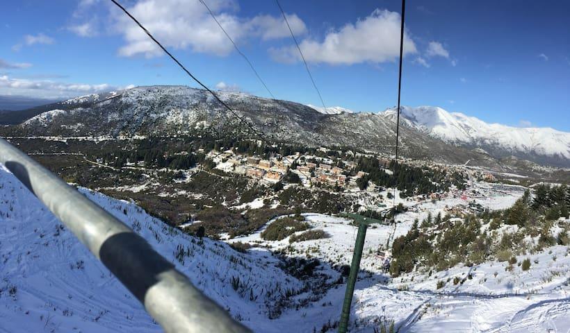 Vista desde las pistas de ski