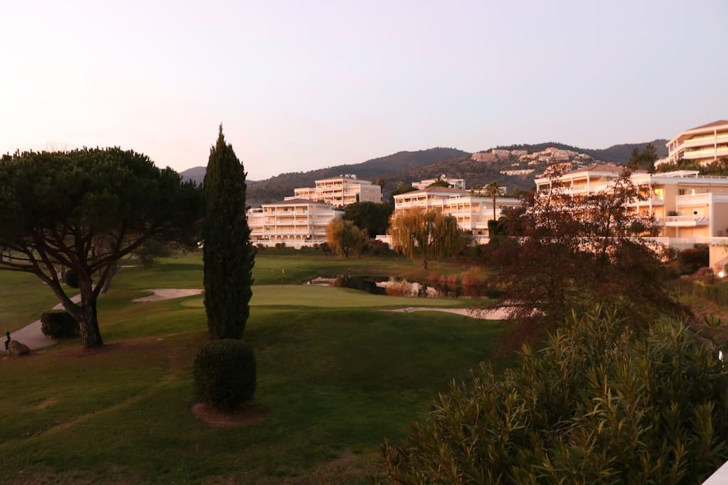 view riviera golf from our garden