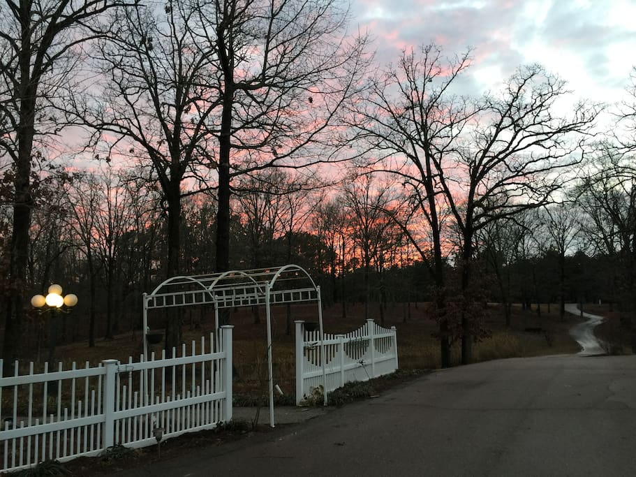 Sunset at Deer Run from Porch of Cottage