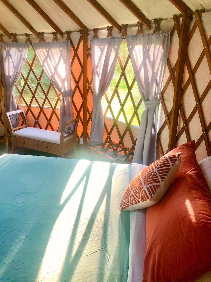 Glamping Yurts in little slice of paradise