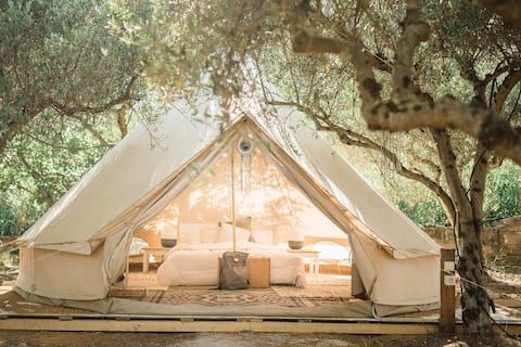 Glamping Poros, Sikia, belltent in olive grove(2p)