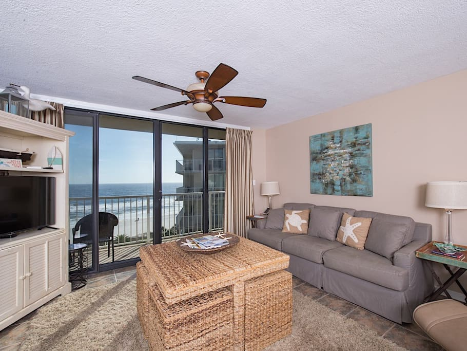 Lots of natural light and gulf views!