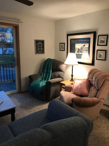 Living room with balcony access