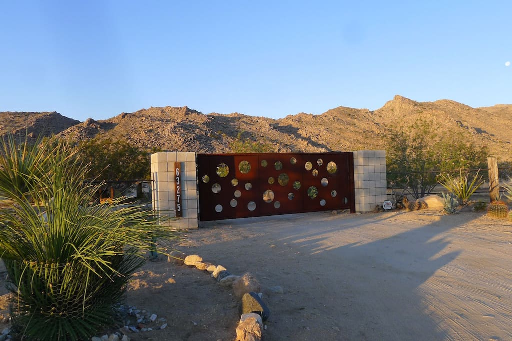 Gated acreage against Joshua Tree National Park