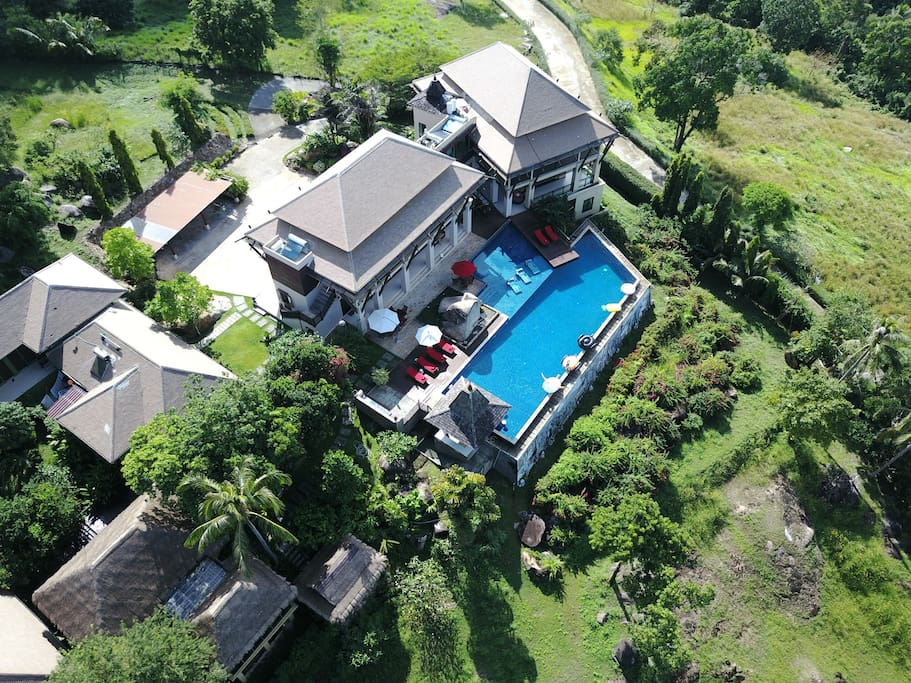 Set in 2.5 acres private, secure gardens