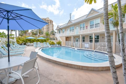 The condo faces the pool, which is heated all year round.