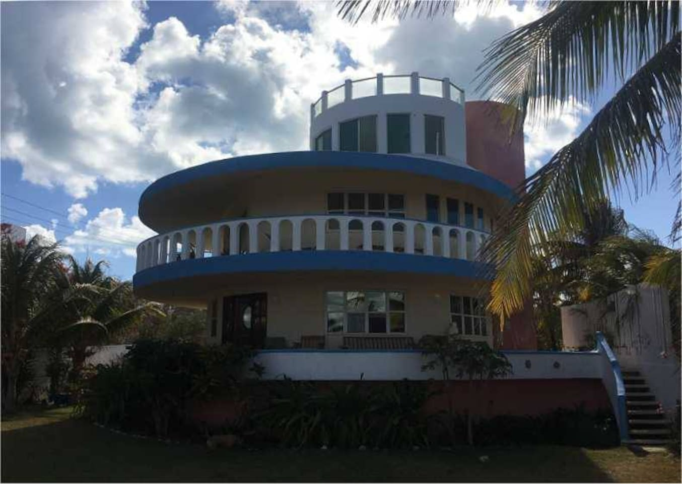 The round house on the hill, Casa Pastel was built by dreamers for dreamers.